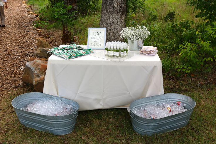 Prepared for a warm wedding day