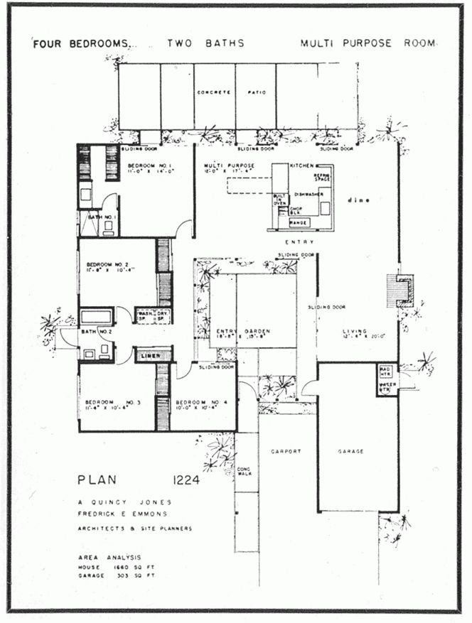 eichler floor plan for houses floor plans for houses