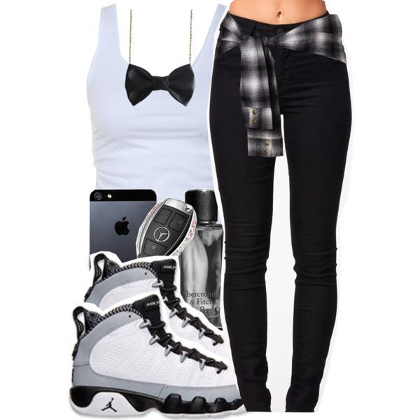 Untitled #200 by mb-misfit on Polyvore featuring polyvore fashion style Tusnelda Bloch Lee Freena Tavik Swimwear Abercrombie & Fitch Mercedes-Benz black iphone blackandwhite jeans jordans