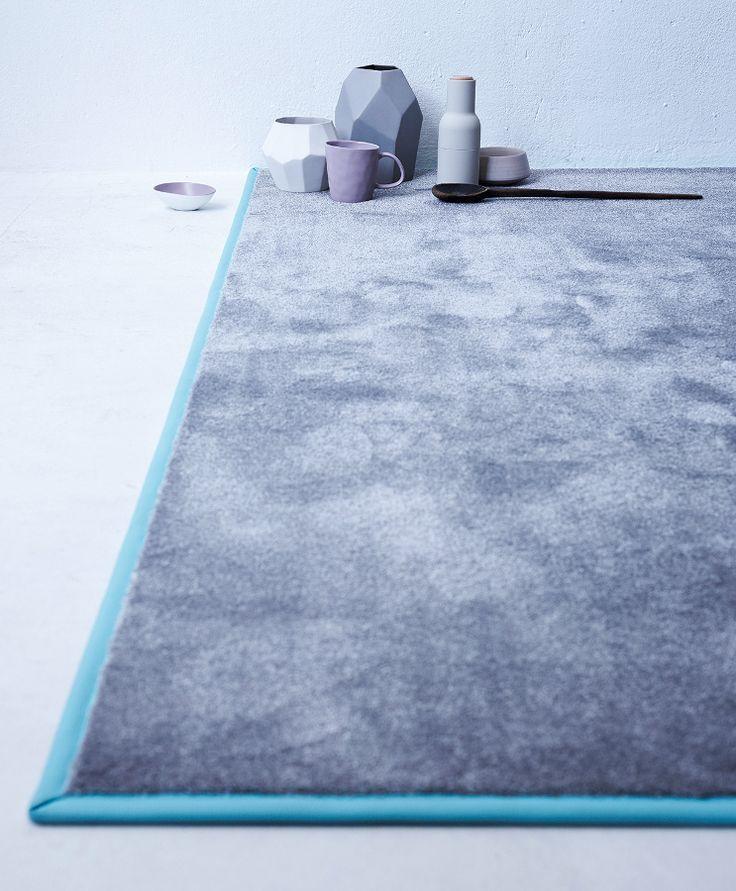 Rectangular #rug CHILL by OBJECT CARPET  #carpet #grey #minimal