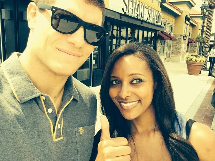 WWE Superstar Cody Rhodes and his beautiful wife Brandi (WWE Diva Eden) enjoying a nice sunny day together.