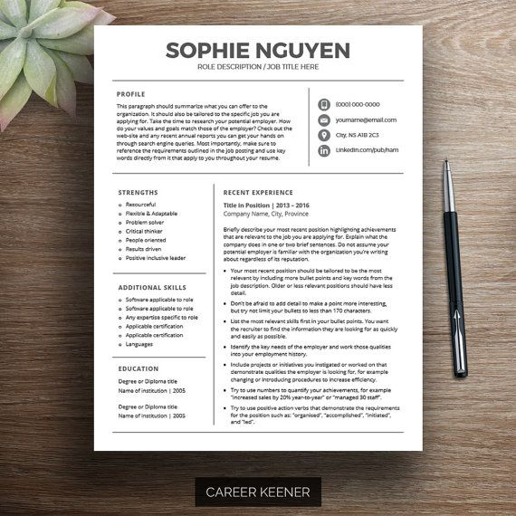 17 best images about ms word on modern resume