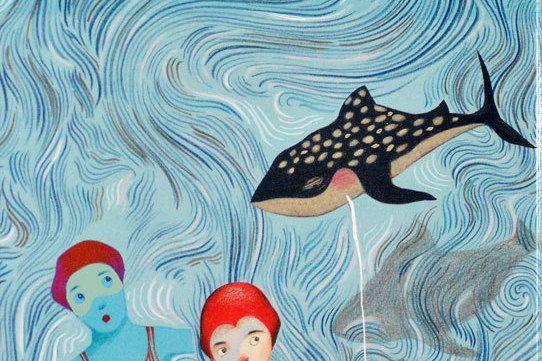 Sweet sea-Decor Home Art room Illustration Girl di marilenapasini