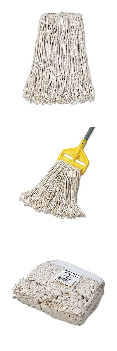 Mops and Brooms 20607: Boardwalk Cm02024s Mop Head Cotton Cut-End White 4-Ply #24 Band (Case Of 12) -> BUY IT NOW ONLY: $44.77 on eBay!