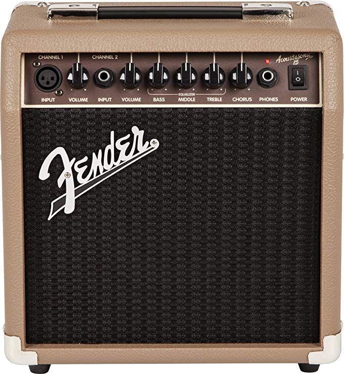 Fender Acoustasonic 15 15 Watt Acoustic Guitar Amplifier Acoustic Guitar Amp Fender Guitar Amps Acoustic Guitar