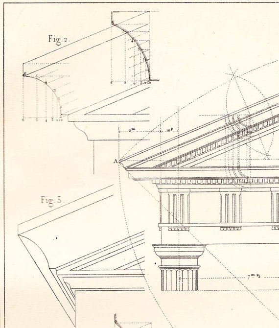 57 best descriptive geometry references images on pinterest facades doric order architecture drawing vignola steel engraving malvernweather Images