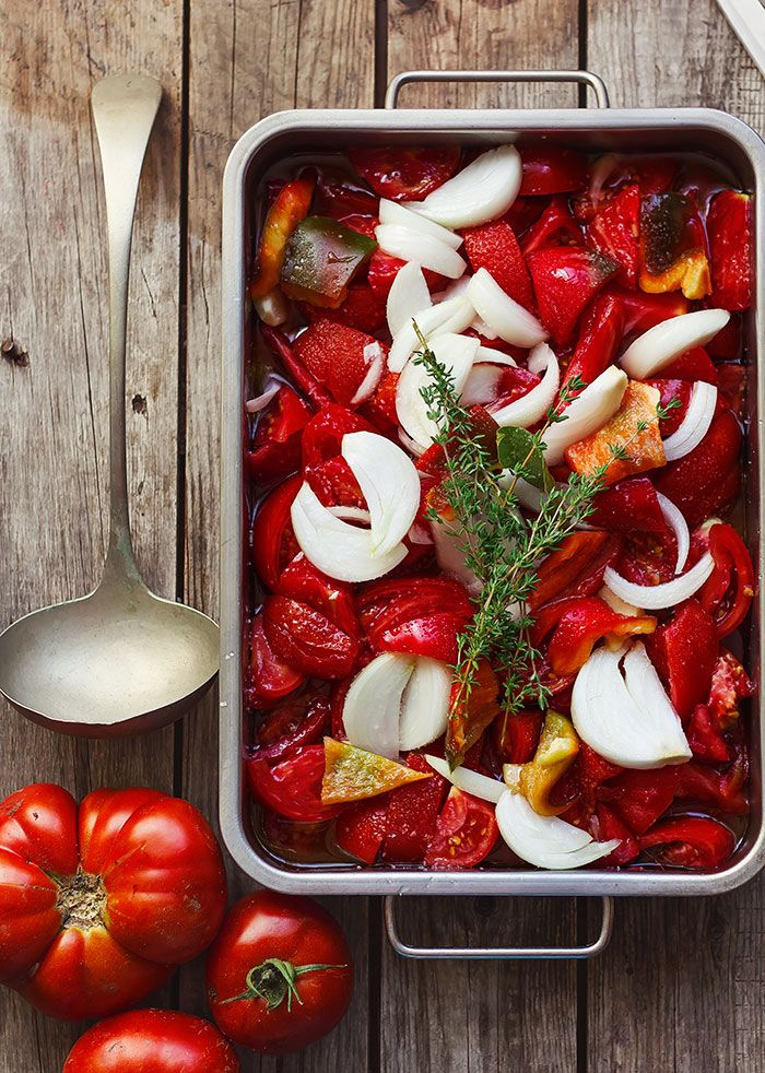Salsa de tomate asado