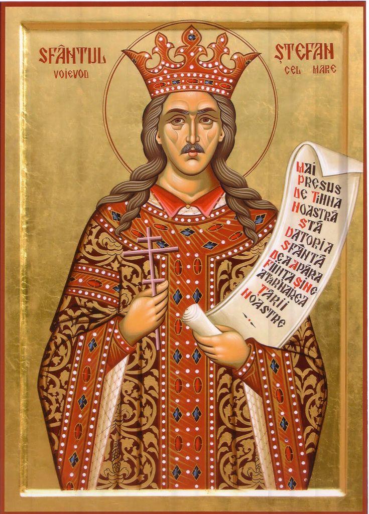 Icoane Ortodoxe: Dreptcredinciosul Voievod Ştefan cel mare şi Sfânt