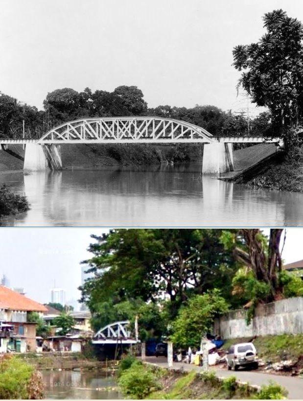 Spoorbrug, vermoedelijk bij de opiumfabriek in Weltevreden te Batavia, 1895, ,.,Jembatan Gang Ampiun, Cikini, Jakarta,  2013