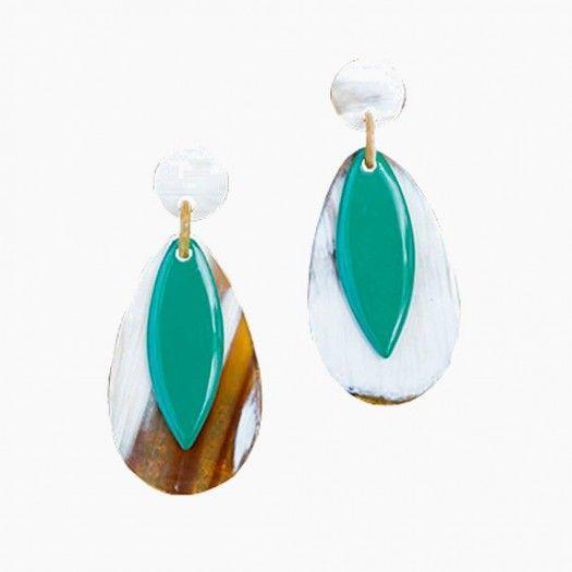 Bora Bora Horn Earrings