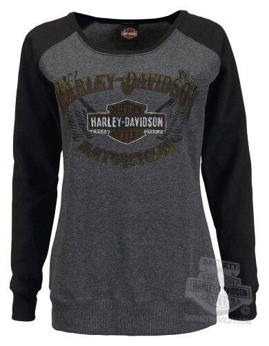 Harley Davidson long sleeve sweatshirt....love this! So comfy