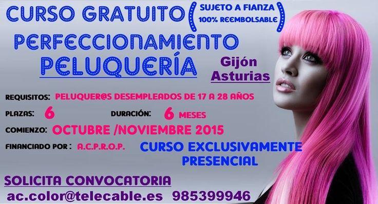 Curso gratuito estilismo Asturias
