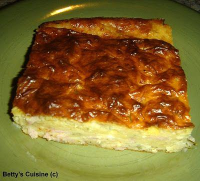 Zambono-tiropita....Greek Ham & Cheese Pie.....