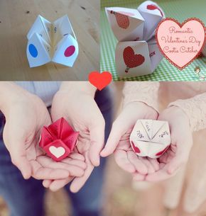 Make and mail your sweetie a cootie catcher :) Loved making these as a kid... only this time fill it with sweet love notes <3