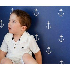 Pop & Lolli - Sarah Jane Anchors Away Wall Paper - Navy