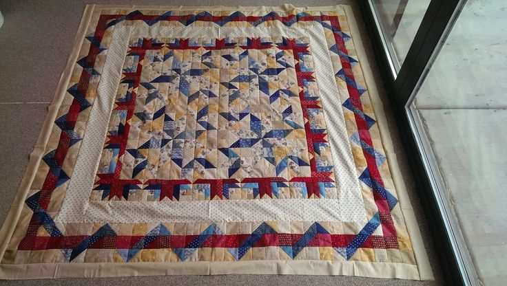Fireworks, Quilting on the Rim Mystery 2014, needs quilting