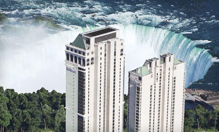 Hilton Hotel and Suites Niagara Falls/Fallsview Overlooking Niagara Falls