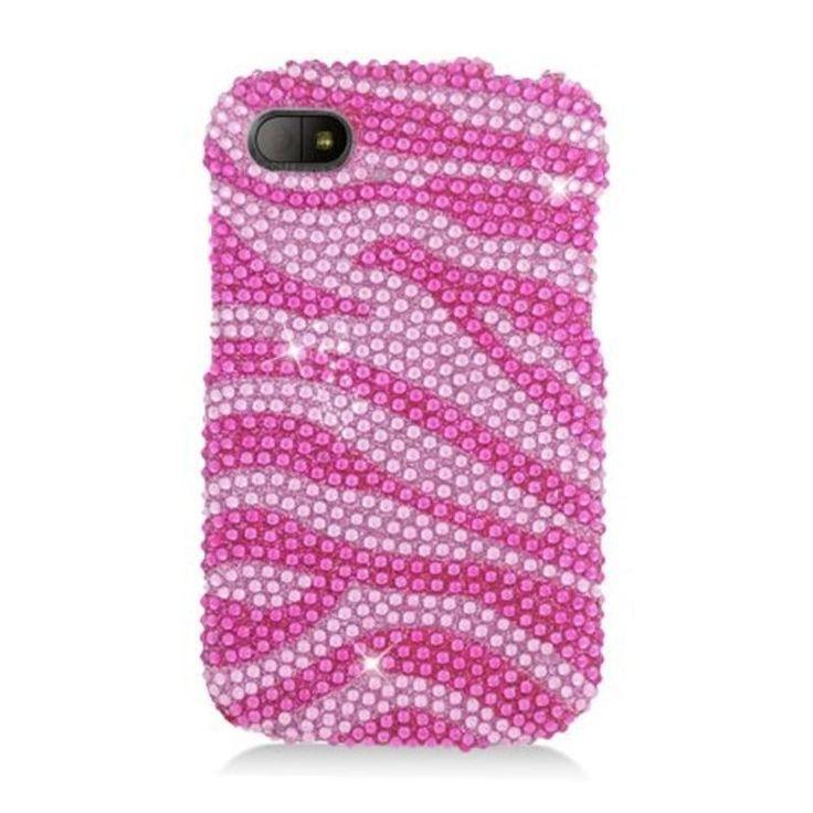 Insten /Silver Zebra Hard Snap-on Rhinestone Bling Case Cover For BlackBerry Q10