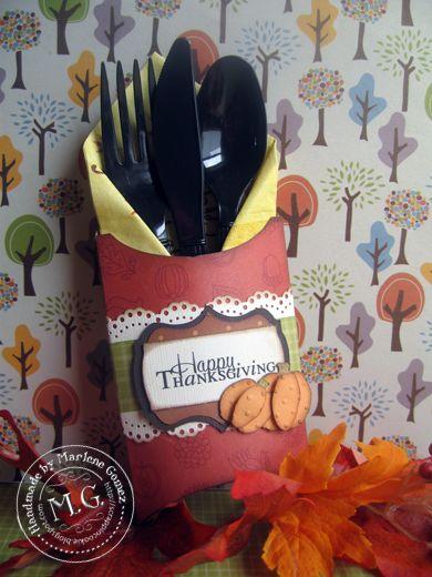 Thanksgiving Utensil Amp Napkin Holder Like The Idea For