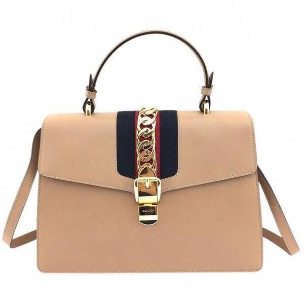 Gucci  11518 Large Sylvie Leather Camel Color Shoulder Bag (33.252.510 IDR)