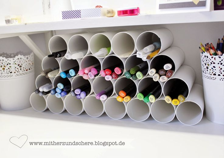 My new Storage for my Copics, Made of Tubes, DIY, Marker, copicstorage