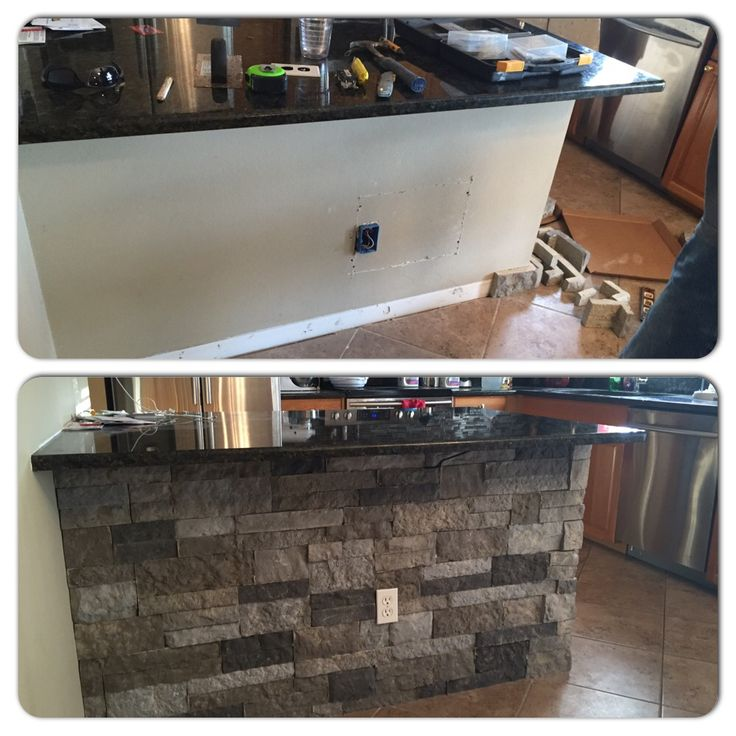 Diy Add Some Spruce To Your Kitchen Island Using Airstone