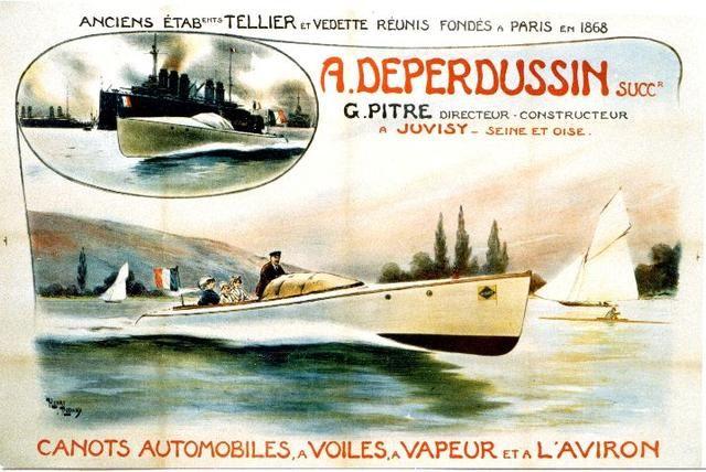 Rudaux - Deperdussin canots automobiles - Vintage Poster