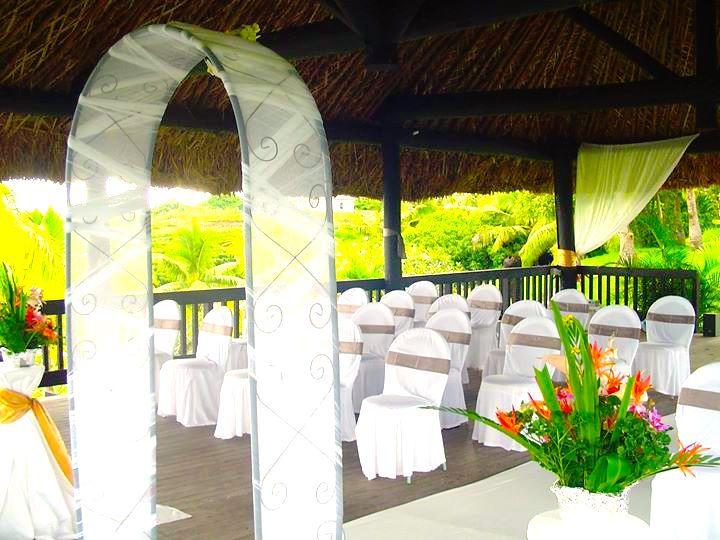 Wedding set-up - Anchorage Beach Resort Fiji