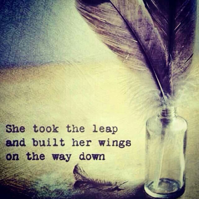 She took the leap