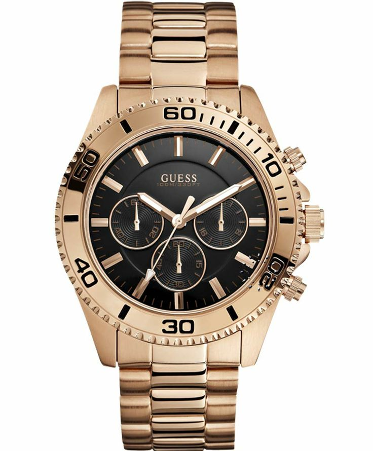 GUESS Chronograph Rose Gold Stainless Steel Bracelet Μοντέλο: W0170G3 Η τιμή μας: 228€ http://www.oroloi.gr/product_info.php?products_id=37498