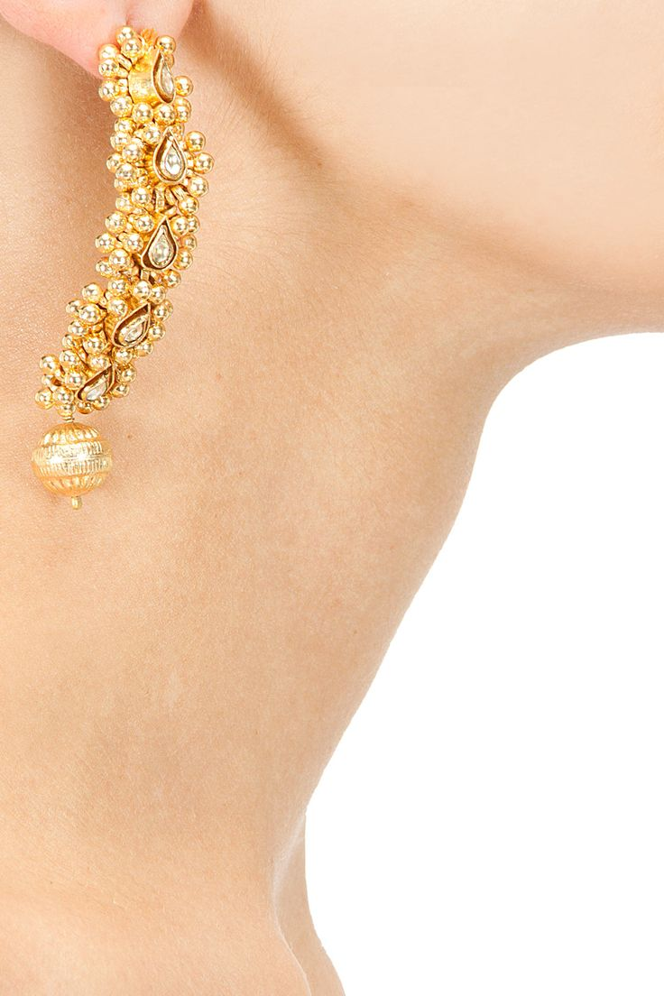 Kundan and beads earrings available only at Pernia's Pop-Up Shop.