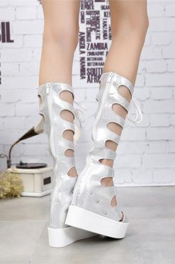 sandale argintii; sandale albe; sandale cu platforma; sandale platforma; sandale cu talpa ortopedica; sandale talpa ortopedica