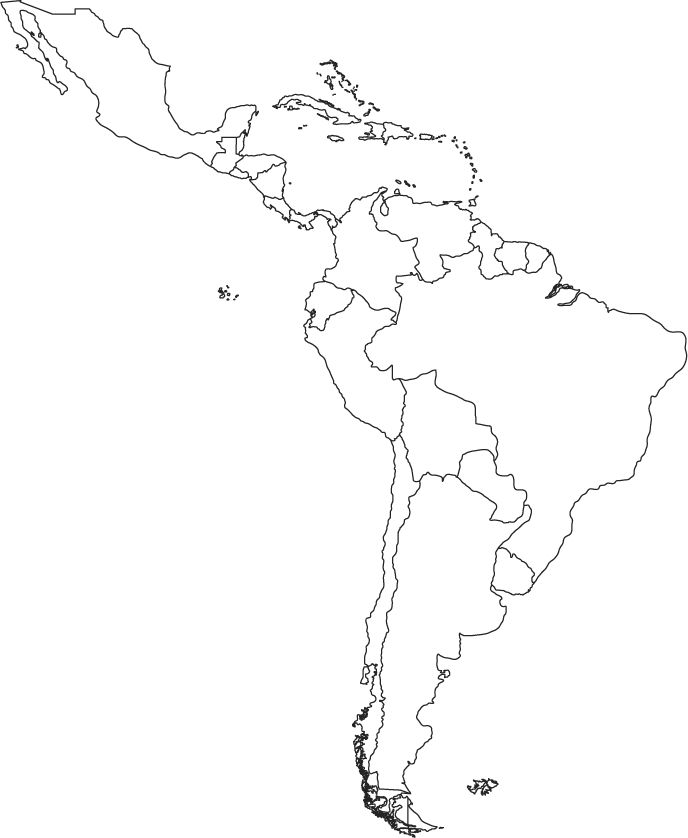 Printable Map Central South America | World Map > North America > Maps > AMERICAS MAP
