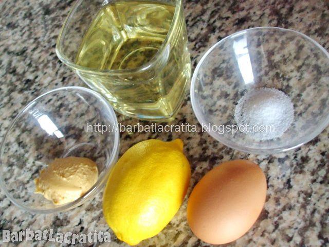Maioneza rapida cu blenderul Ingrediente