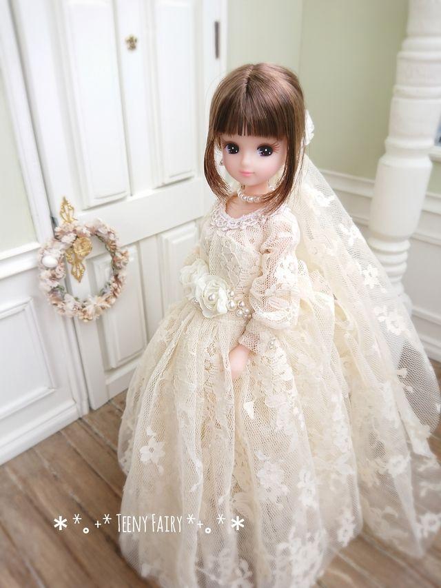 Teeny Fairyさんの作品一覧 かわいい人形 リカ ちゃん ドレス ウエディングドール