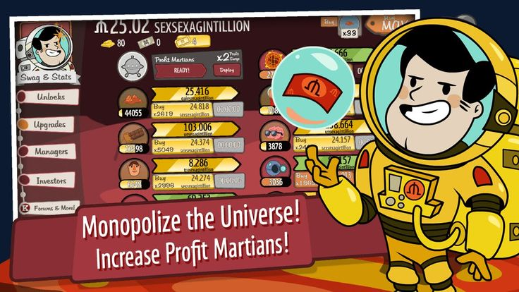 Adventure Capitalist Earth-Moon-Mars-Events Reset to Reset