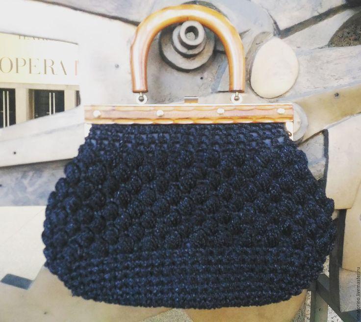 Купить Винтажная сумка из рафии - винтажный стиль, винтаж, рафия, итальянский стиль, итальянский винтаж