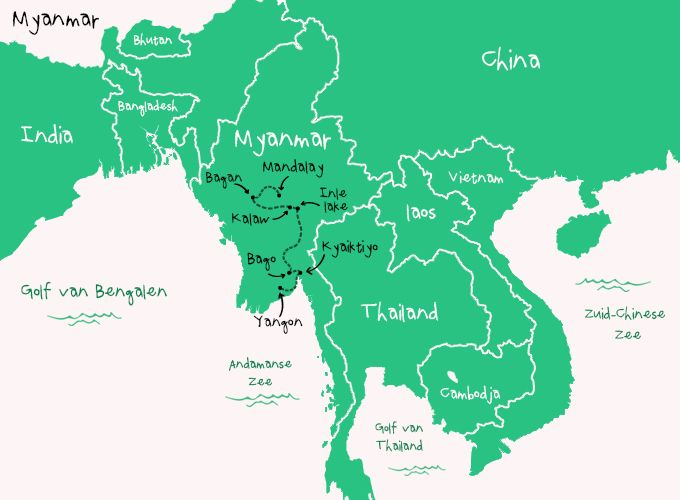 Backpack Route Myanmar
