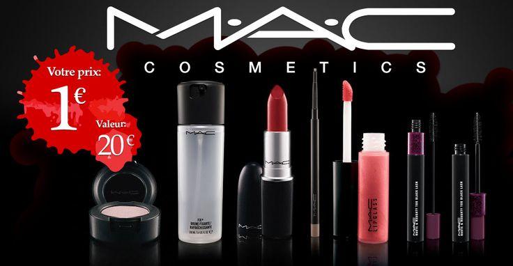 MAC Cosmetics: pack cosmétique à 1€ - Mes échantillons Gratuits