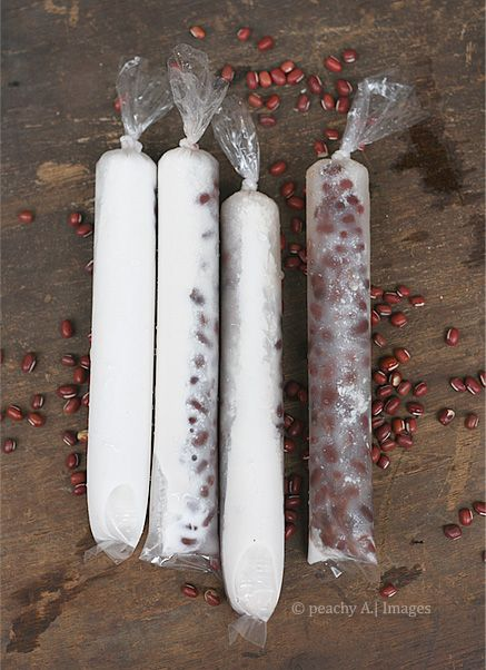Red Beans and Coconut Milk Ice Candy - The Peach Kitchen