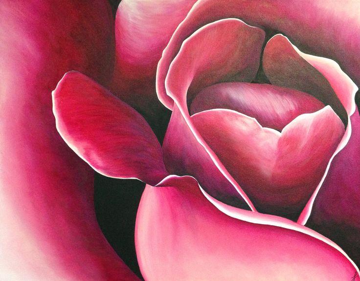 Rose painting - acrylic | My Painting | Pinterest