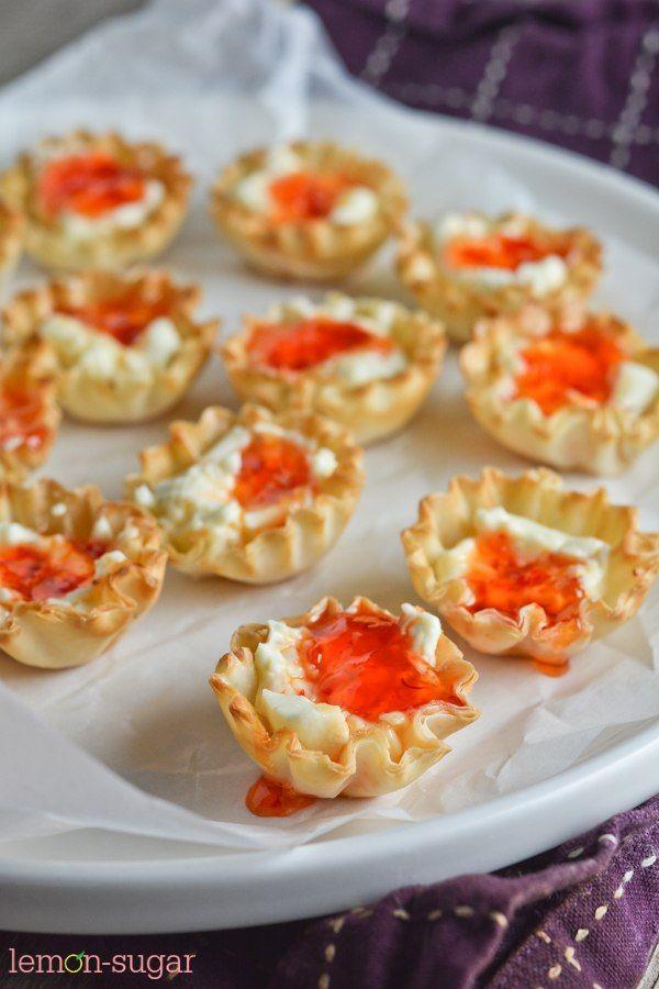 Lemon Sugar   Cream Cheese and Pepper Jelly Fillo Shells   http://lemon-sugar.com