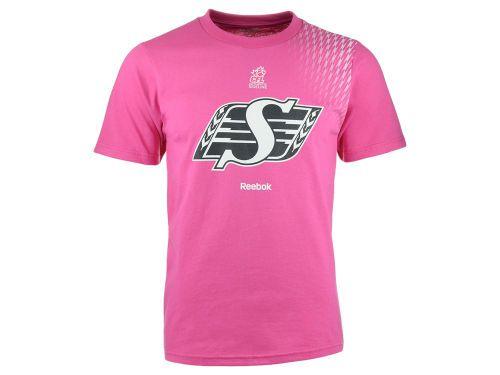 Saskatchewan Roughriders Reebok CFL Men's Pink Blitz T-Shirt from Jersey City