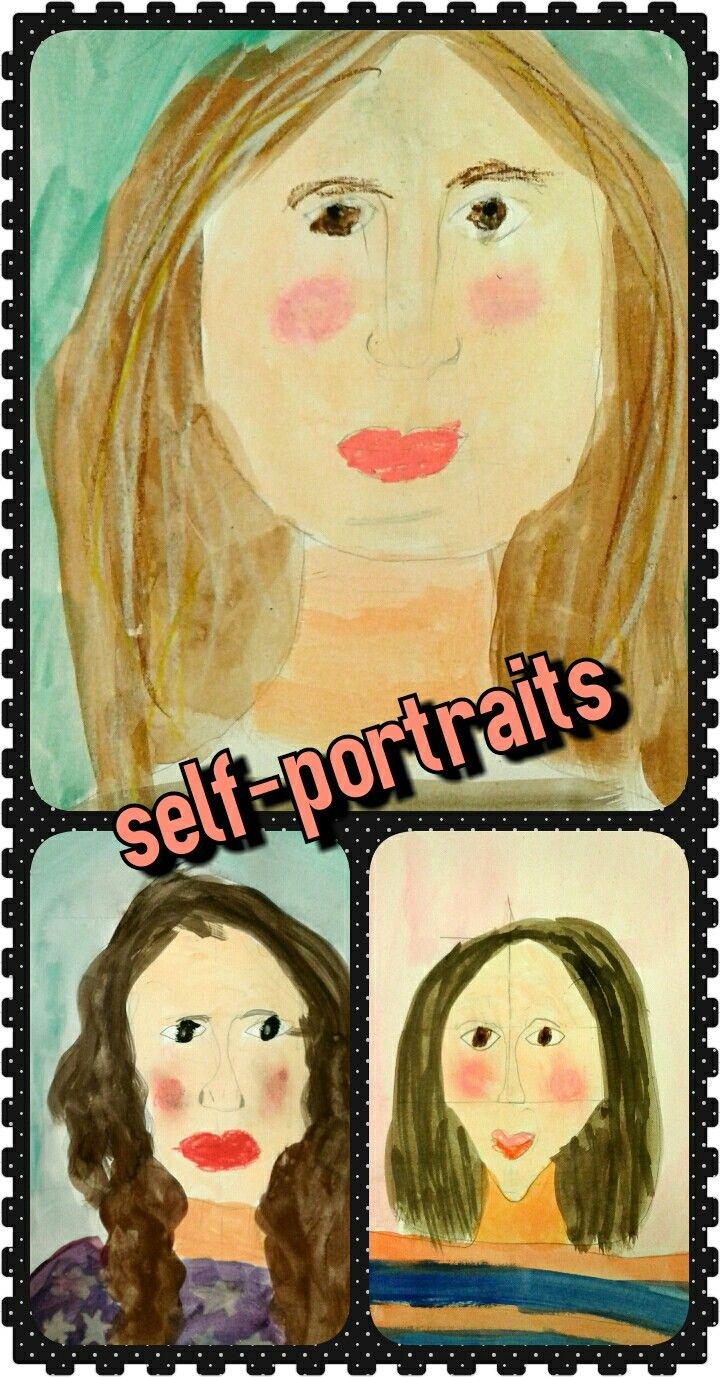 1st grade self-portraits! We just needed a mirror so that the children could OBSERVE their faces and the general rules that apply to face structure. We were all very impressed by the results!