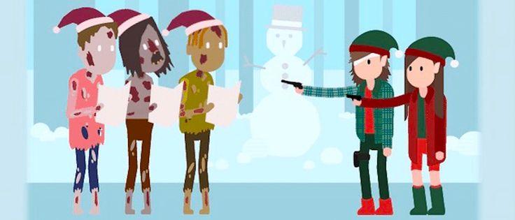 Zombie Χριστουγεννιάτικες ευχές με απίθανες Walking Dead e-cards