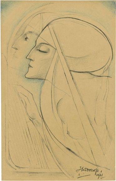 Two Nuns, Jan Toorop. Dutch Symbolist Painter (1858 - 1928)   Via