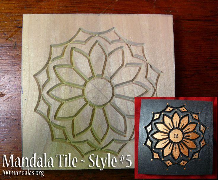 Wood Mandala Tiles ready to paint. $18.50 https://www.etsy.com/shop/TrueNorthArts?section_id=16417751&ref=shopsection_leftnav_4