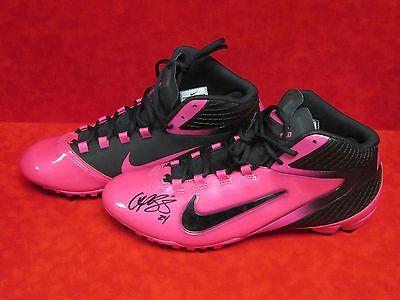 CHAMP BAILEY Signed Autograph Pink Nike Cleats Denver Broncos NFL Football JSA