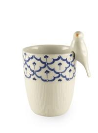 Thai handpainted mug with bird - cute!