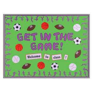 What a great idea for the sports theme classroom!